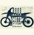 motocross typographical vintage grunge poster vector image