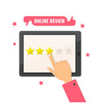 online review star rating feedback concept vector image vector image