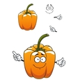 Orange cartoon bell pepper vegetable vector image vector image