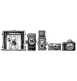 photo cameras evolution set vector image vector image