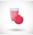 pomegranate juice flat icon vector image vector image