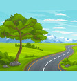 road to mountain landscape with asphalt road vector image