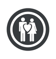 Round black love couple sign vector image