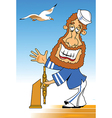 Sailor at the helm vector image vector image