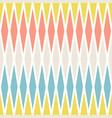 seamless pastel colors geometrical rhombus pattern vector image vector image
