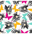 seamless pattern with grunge textures and vector image vector image