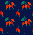 seamless pattern with rose hip berries vector image vector image