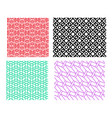 set geometric pattern in linear style vector image vector image