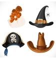 Set of hats for the carnival costumes - female vector image vector image