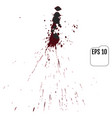 set of realistic bloody splatters drop and blob vector image vector image