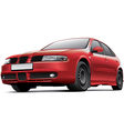 spanish 5 door hatchback vector image vector image