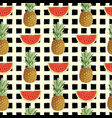summer seamless pattern with ripe sweet fruit vector image