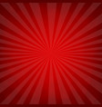 sunburst red retro poster vector image