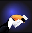Toucan head with New Year card vector image vector image
