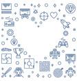 video games heart frame outline vector image