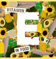 vitamin e background vector image
