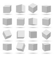 white cubes blocks models vector image vector image