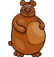 wild bear cartoon vector image vector image