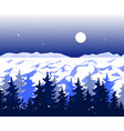 winter panoramic landscape with trees on hills and vector image vector image