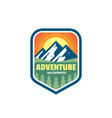 adventure outdoors wilderness concept badges vector image vector image