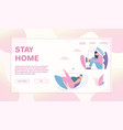 Banner stay home concept quarantine