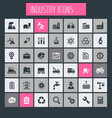 big industry icon set trendy icons collection vector image