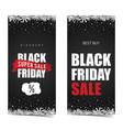 black friday super sale set vector image vector image