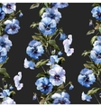 Blue flowers 1 vector image vector image