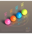 Business Infographics ball concept vector image vector image