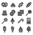 candy icon set 16 icons for web design vector image