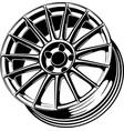 car wheel 19 vector image vector image