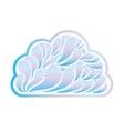 cartoon cloud icon image vector image