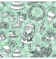 Christmas sketchy seamless vector image vector image