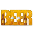 concept beer inscription vector image vector image