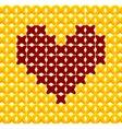 Cross Stitch Heart vector image vector image
