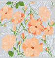 cute sweet orange pink and blue wild floral vector image