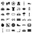 cycling icons set simple style vector image vector image