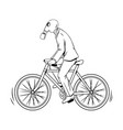 cycling with bad ecology coloring book vector image vector image