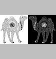 entangle or henna art an camel vector image vector image