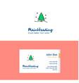 flat christmas tree logo and visiting card vector image