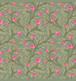 floral white pattern flower seamless background vector image vector image