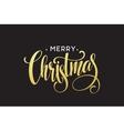Gold glitter Christmas lettering design Merry vector image