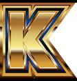 Golden Font Letter K vector image