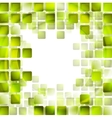 Green tech squares on white background vector image vector image