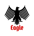 Heraldic icon of black eagle sign vector image vector image