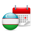 Icon of National Day in Uzbekistan vector image vector image