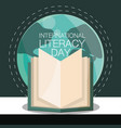 international literacy day vector image vector image