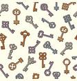 keys pattern safety symbols key collection vector image