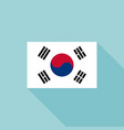 korea flag vector image