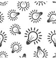 light bulb seamless pattern background business vector image vector image